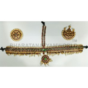 Temple Mathapatti Green Studded