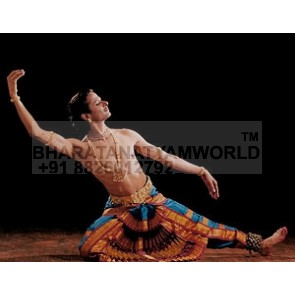 Bharatanatyam Dance Costume Men 3 Layer Border