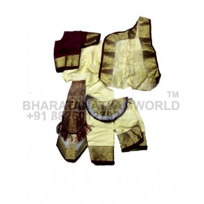 Bharatanatyam Readymade Premium Three Fan Costume
