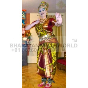 Single Fan Pure Silk Bharatanatyam Costume