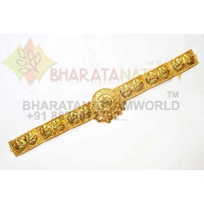 Gold Finish, Round Lakshmi Waist  Belt