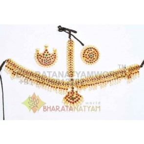 Moon Style Mathapatti with Sun and Moon or Head Set - Temple Jewellery
