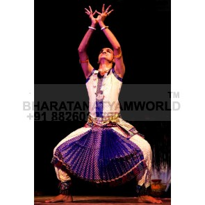Bharatanatyam Men Costume - Brocade Fabric