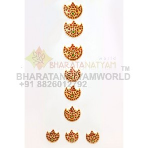 Hair Braid Decor Moon Shaped  - Temple Jewellery C2