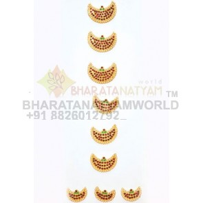 Hair Braid Decor Half Moon Style  - Temple Jewellery C5