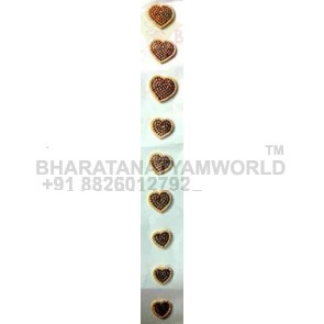 Hair Braid Decor Heart Style  - Temple Jewellery C6