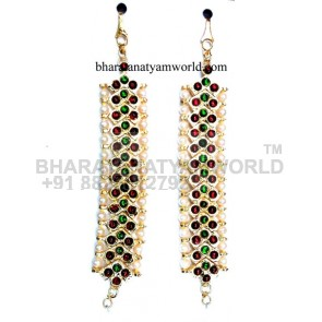 Temple Kaan Chain V Shape With Green Stone