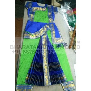 Pure Silk Fabric Kuchipudi Costume