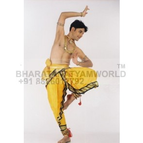 Bharatanatyam Dance Costume Men ( Make - Fabric) - Design 4