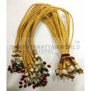 Choker necklace thread Golden Color