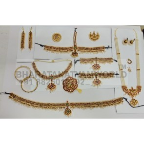 Moon Normal Bharatanatyam Temple Jewellery