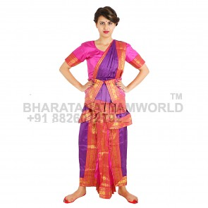 Kuchipudi Readymade Costume Purpal And pink color