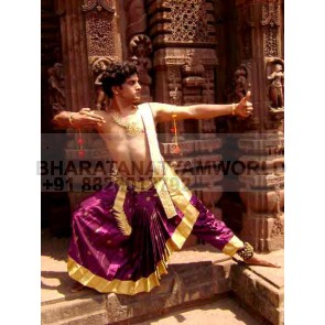 Bharatanatyam Dance Costume Men ( Make - Fabric) 2