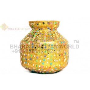 Pooja kalash (Steel Pot Decorated)
