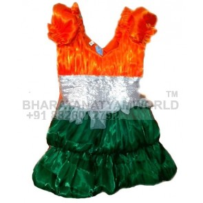 Western Frock 3 - India Flag Color