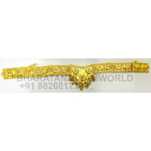 Gold Finish Kids Lakshmi Waist Belt