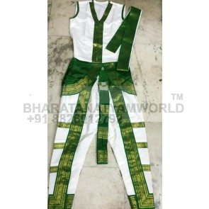 Bharatanatyam Men Costume  3 Layer Border