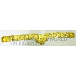 Gold Finish Economic Lakshmi Waist Belt